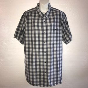 The North Face Button Front Shirt Black Plaid